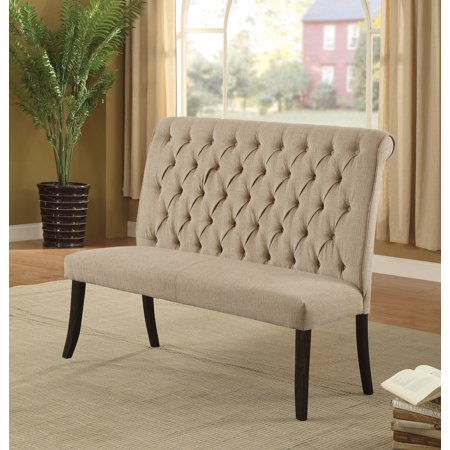 Furniture of America Verona Ivory Contemporary 2-Seater Dining Bench