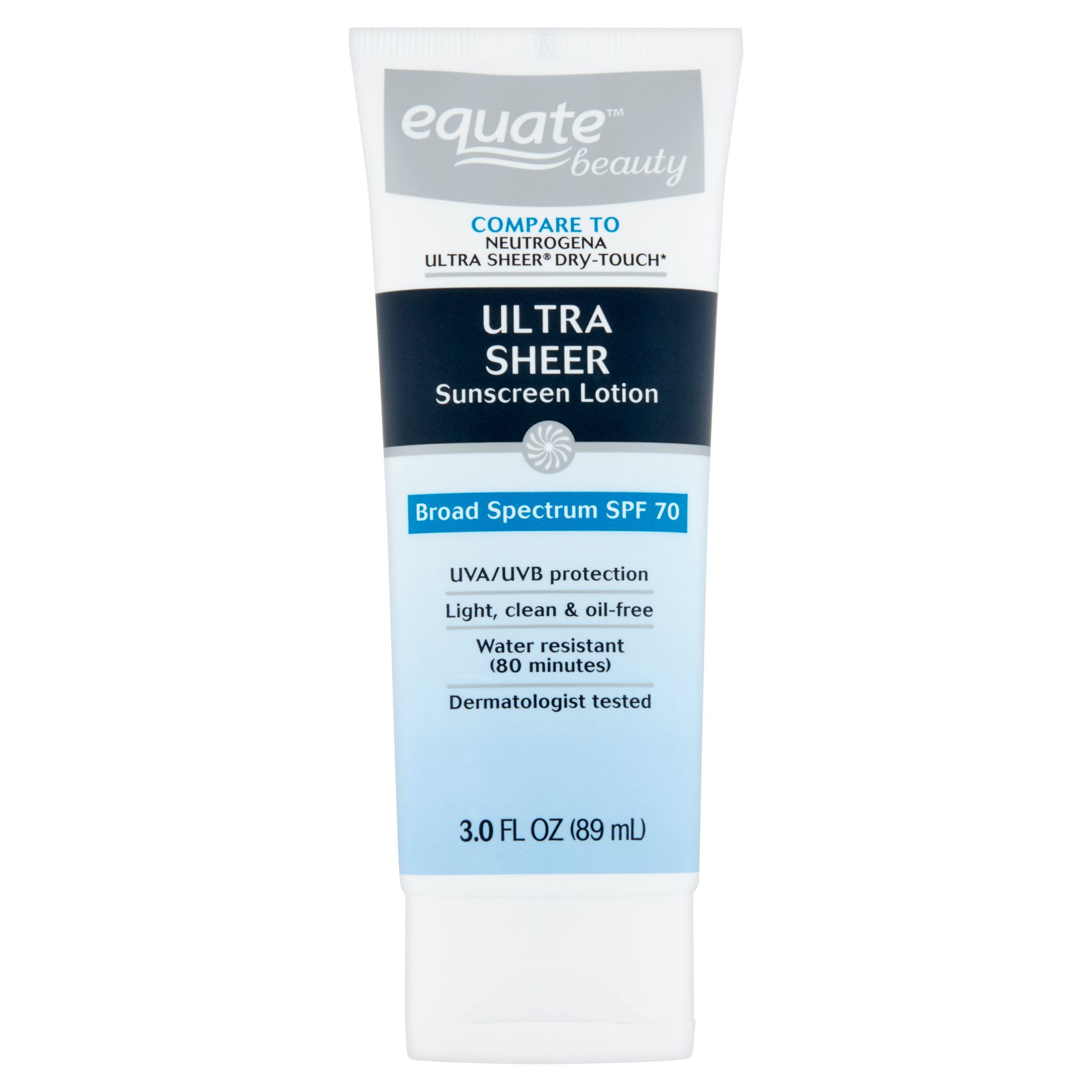Equate Beauty Ultra Sheer Sunscreen Lotion, SPF 70, 3 Oz