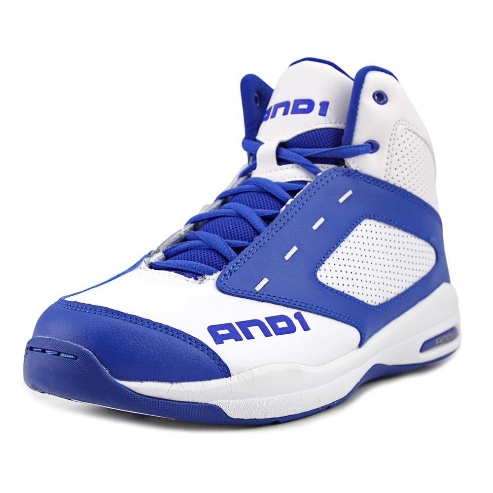 AND1 Typhoon Men  Round Toe Leather Blue Basketball Shoe