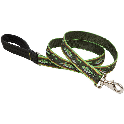 """Lupine Collars and Leads 00059 1"""" x 6' Trout Design Dog Lead"""