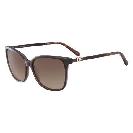 diane von furstenberg women's dvf617s joanna square sunglasses, crystal brown, (Womens Von Zipper Sunglasses)