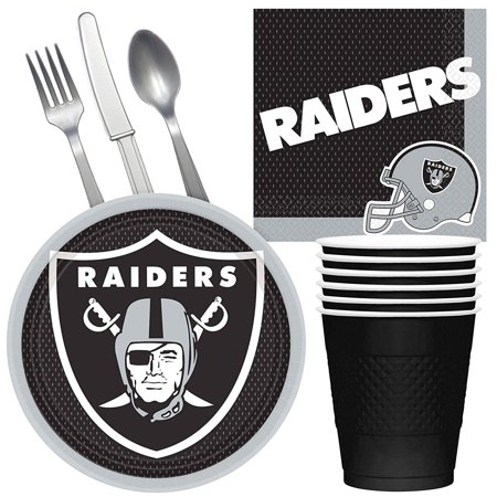 NFL Oakland Raiders Tailgate Party Pack (For 16 Guests) - Oakland Raiders Party Supplies