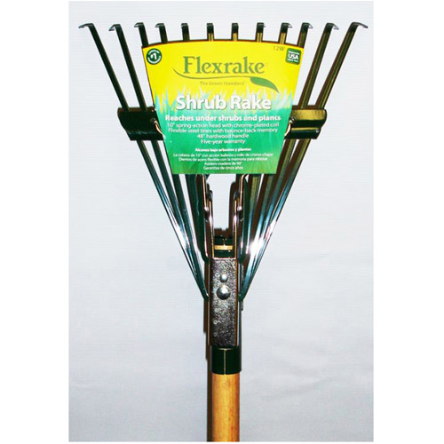 Flexrake 12W 4' Twelve Tine Hardwood Handle Shrub Rake