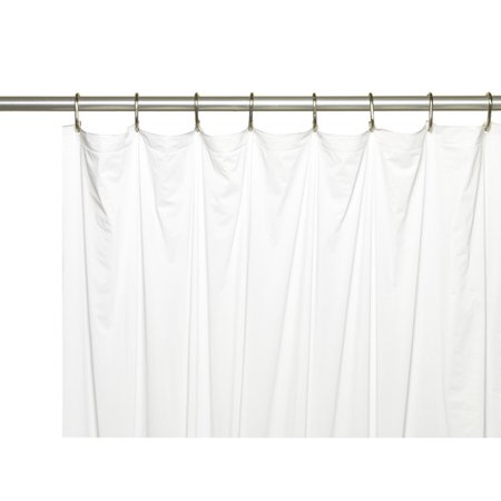 Extra Long 5 Gauge Vinyl Shower Curtain Liner With Metal Grommets In White Size 72 Wide X 84