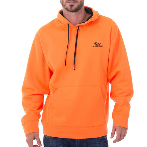 Realtree and Mens Camo Performance Pullover Fleece Hoodie