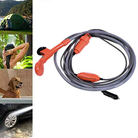 Yosoo 12V Car Plug Outdoor Portable Shower- Mounted Shower Kit Best for Pets RV Cars Baby Camping Travel Beach Bidet Toilet
