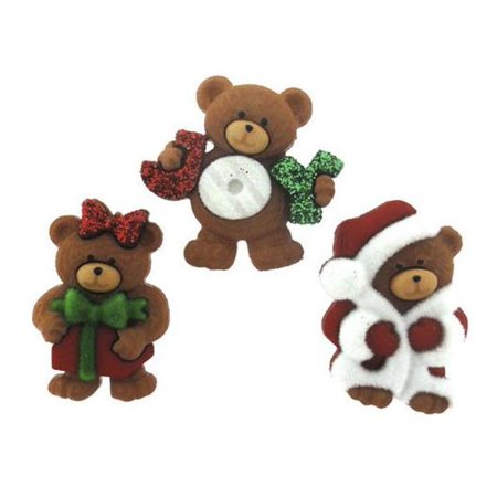 Jesse James A Beary Merry Christmas Embellishments, 3-Pack