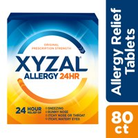 Xyzal 24hr Allergy Relief Antihistamine Tablets, 80 Ct