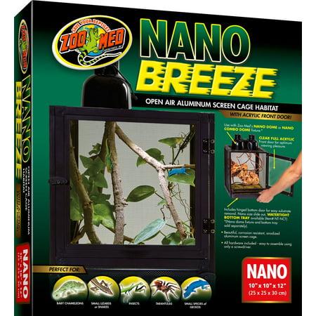 Zoo Med Nano Breeze Aluminum Screen Cage Habitat - 1 Pack - (10