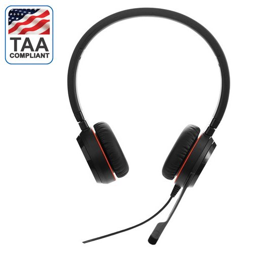 Jabra Evolve 20se Stereo Headset Optimized For Ms Lync W Usb Adapter Taa Compliant Walmart Com Walmart Com