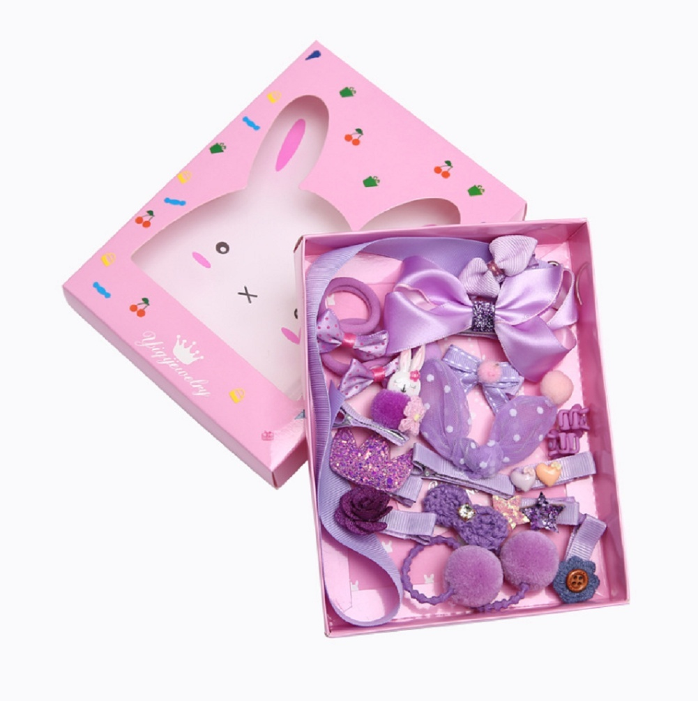 18PCS Hairpin Baby Girl Hair Clip Bow Flower Mini Barrettes Star Kids Infant Set