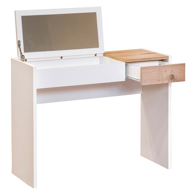 ArteMob Fougueuse Dressing Table with Hidden Mirror by