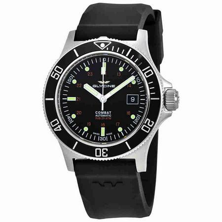 Glycine Combat Sub Automatic Black Dial Mens Watch GL0087