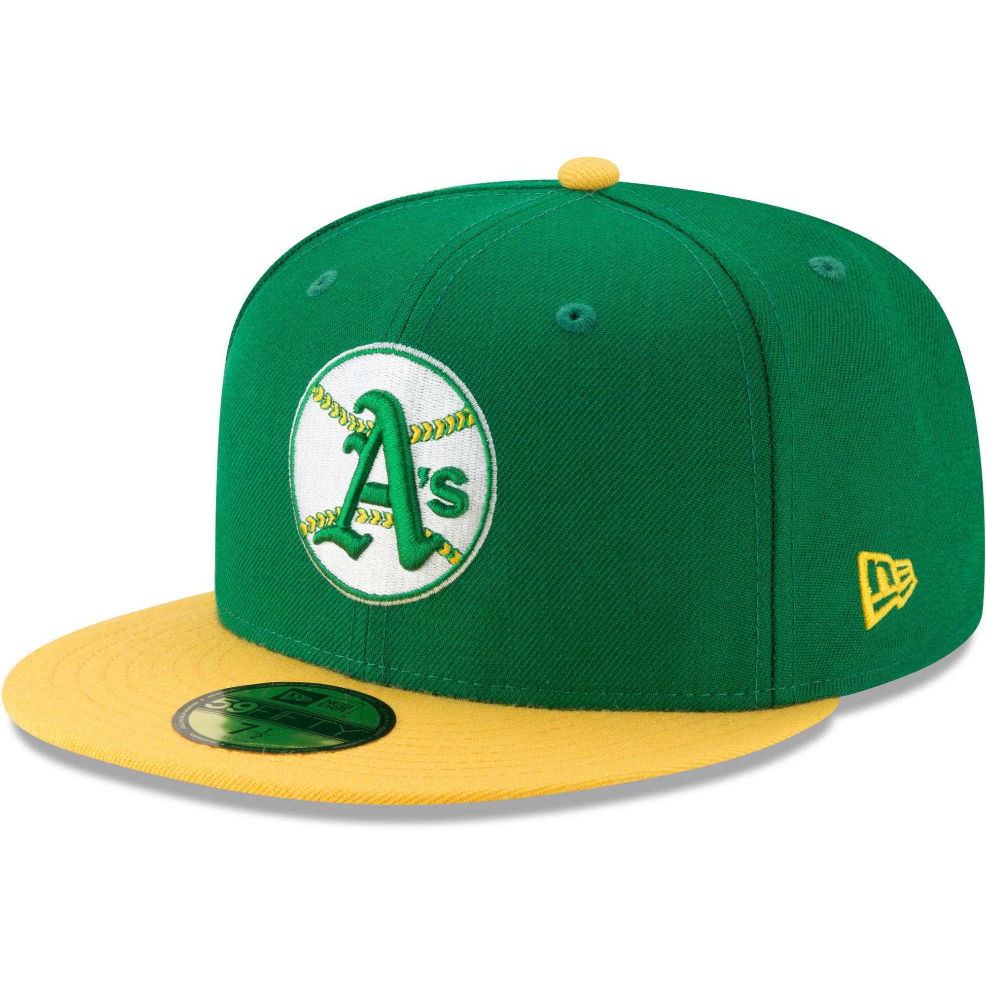 Oakland Athletics New Era Cooperstown Collection Alt Logo Pack 59FIFTY Fitted Hat - Green