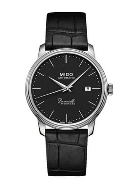 Men's Baroncelli III Heritag 39mm Black Leather Band Steel Case Automatic Watch M027.407.16.050.00