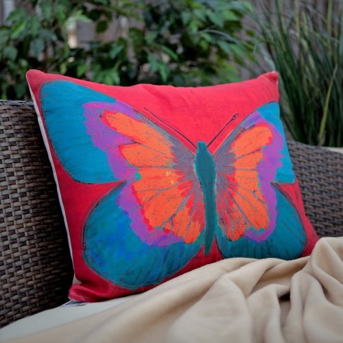Magnolia Casual Butterfly Print Pillow