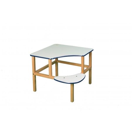 Wild Zoo Furniture c-d wht-blu-wz Corner Desk - White-Blue - image 1 of 1