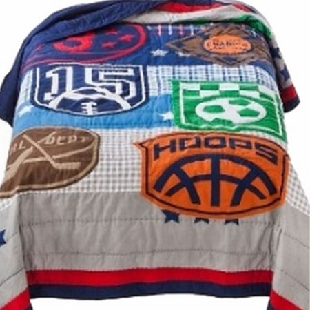 Kids Game On Sports Stitched Full Queen Bed Quilt Sport Balls Comforter