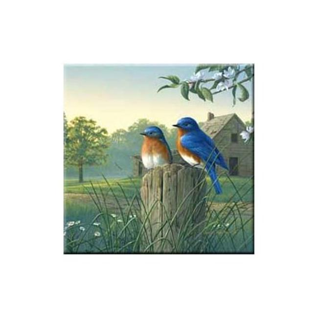 McGowan TT92386 Tuftop Country Morning Bluebirds Trivet