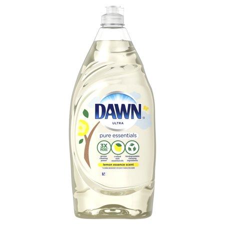 Lemon Dawn Dishwashing Liquid (Dawn Pure Essentials Dishwashing Liquid Dish Soap, Lemon Essence, 34 fl)