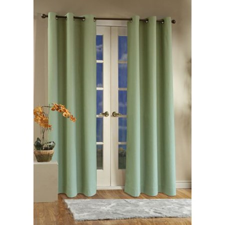 Weathermate Insulated Grommet Top Curtain Pair Sage