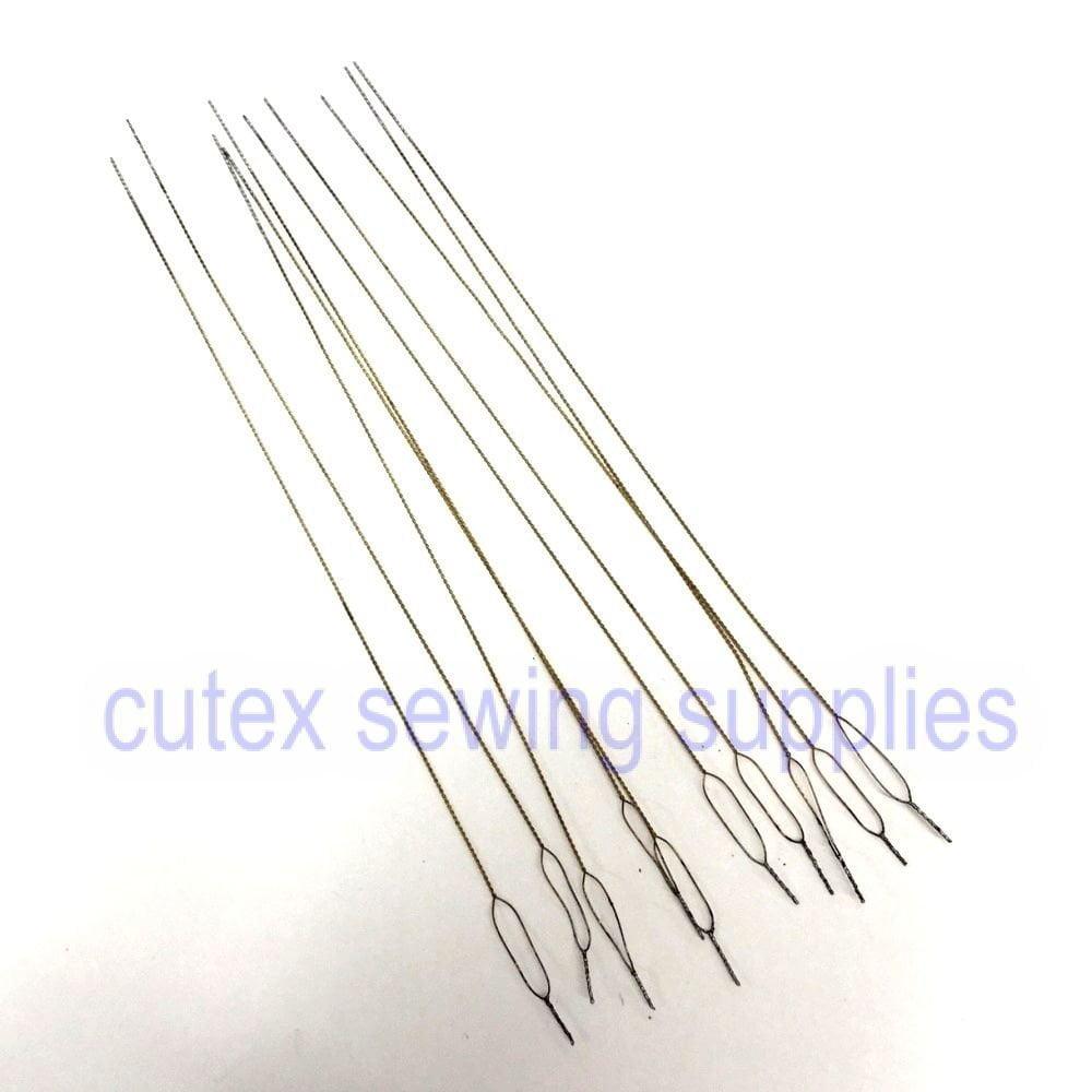 Cutex (TM) Brand Pack of 12 Overlock Serger Looper & Needle Threading Wires / Threaders