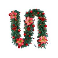2.7m Christmas Artificial Garland Rattan Flower Home Party Xmas Decor