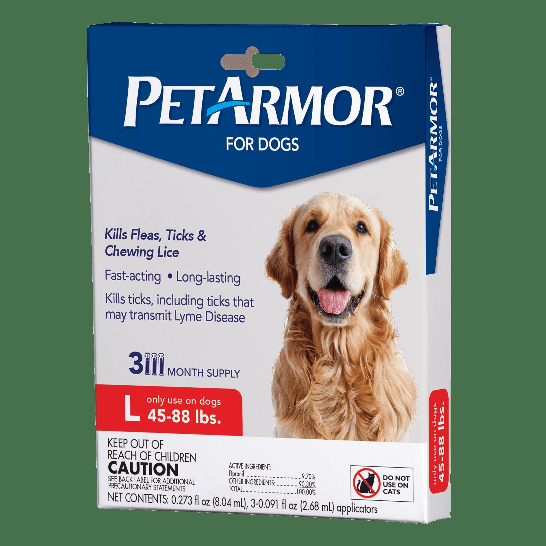 Petarmor Flea Tick Prevention For Dogs 45 88 Lbs 3 Treatments Walmart Com Walmart Com