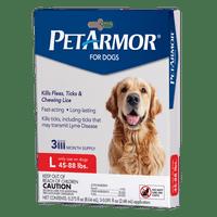 PetArmor Flea & Tick Prevention for Dogs, 3 Treatments