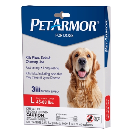 PetArmor Flea & Tick Prevention for Dogs (45-88 lbs), 3 Treatments