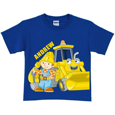 Personalized Bob the Builder Here Goes! Scoop Toddler Royal Blue T-Shirt](Purple Bob)