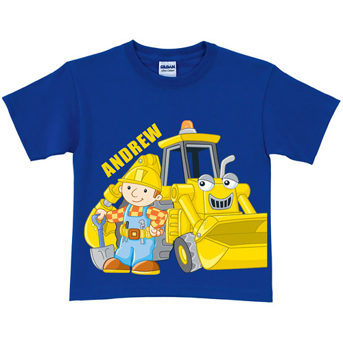 Personalized Bob the Builder Here Goes! Scoop Toddler Royal Blue T-Shirt