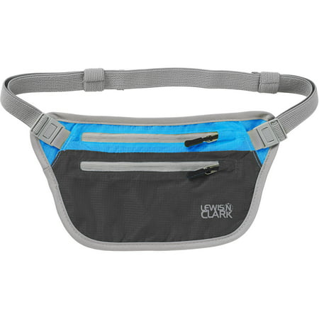 ElectroLight Waist Stash, Charcoal/Bright Blue