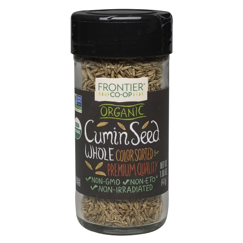 Frontier Whole Cumin Seed, Certified Organic, 1.68 Oz
