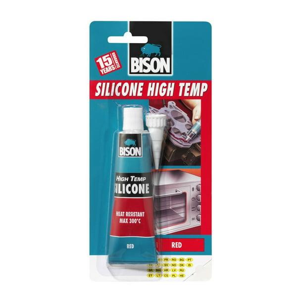 1 X 6305453 Bison Silicone High Temp Red Heat Resistant Sealant 60ml Walmart Com Walmart Com