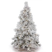 Vickerman Pre-Lit 4.5' Flocked Alberta Artificial Christmas Tree ...