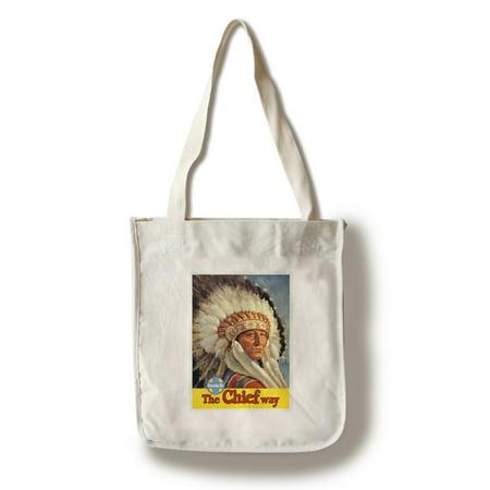 Santa Fe Bag (The Chief Way - Santa Fe Vintage Poster USA (100% Cotton Tote Bag -)