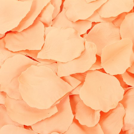 Koyal Wholesale Peach Silk Rose Petals, 200-Pack, Wedding Flowers Table Scatter, Rose Petal Aisle Runner - Rose Petal Aisle Runner