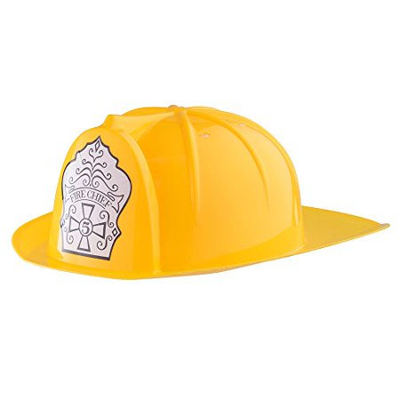 Yellow Fire Fighter construction Helmet For Kids By Dress Up America (Easy Dress Up Ideas For Movie Characters)