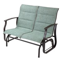 Deals on Mainstays Highland Knolls Patio Sling Mesh Glider Loveseat