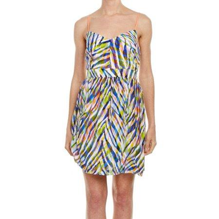 Trina Turk NEW Blue Women's Size 4 Abstract Sheath Dress Silk (Izzy Silk)