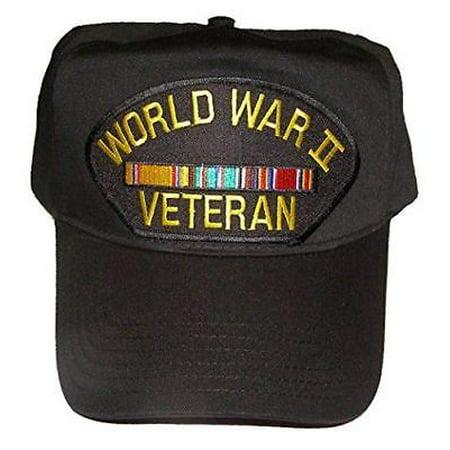 WWW II WORLD WAR TWO 2 VETERAN HAT CAP W/ EUROPE SERVICE RIBBONS (Wayne's World Hat)