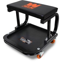 WEN 250-Pound Capacity Rolling Mechanic Seat with Onboard Storage, 73011