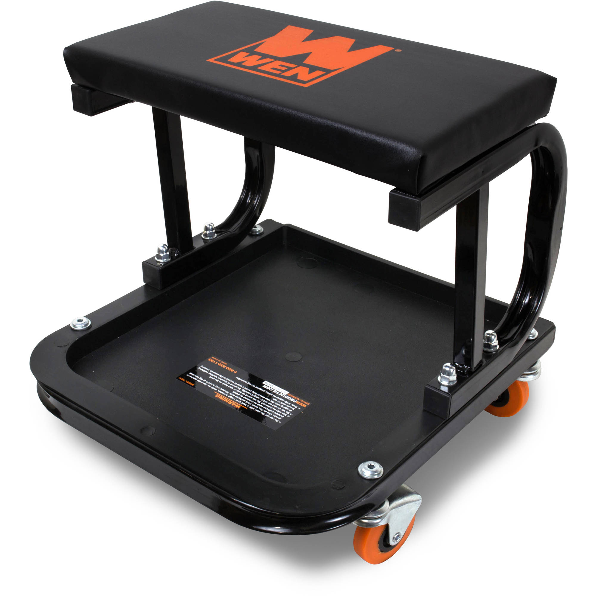 WEN 250-Pound Capacity Rolling Mechanic Seat with Onboard Storage