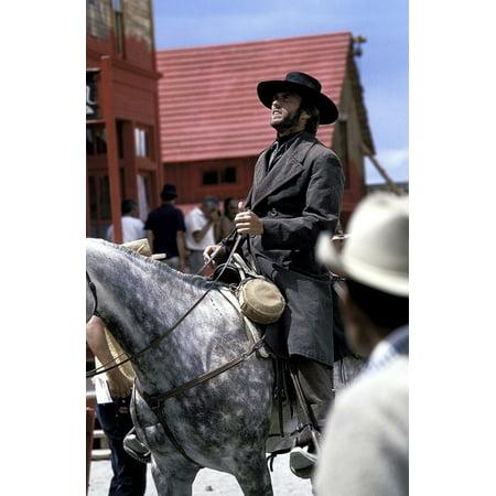 Clint Eastwood horseback riding in cowboy costume Photo Print - Clint Barton Costume