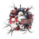 "Way to Celebrate 16"" Halloween Joker and Spider Mesh Wreath"