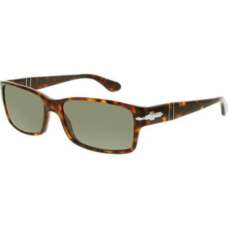 Persol Men's Polarized PO2803S-24/58-58 Tortoiseshell Rectangle Sunglasses