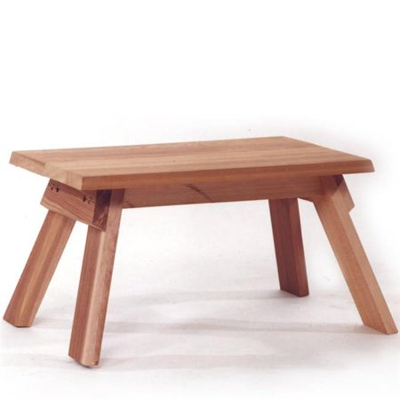 Cedar Footstool for the Backyard Deck ()