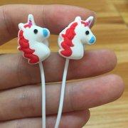 Unicorn Earphones Rainbow Earbuds Girls Womens Kids Ladies Gift Music Headphones