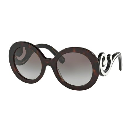 Prada 0PR 08TSF Round Womens Sunglasses - Size 55 (Grey Gradient)